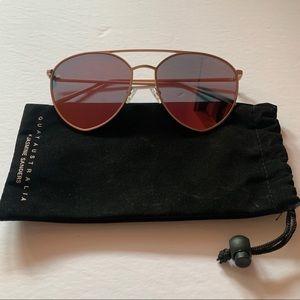 QUAY x Jasmine Sanders Indio Sunglasses Gold/Pink